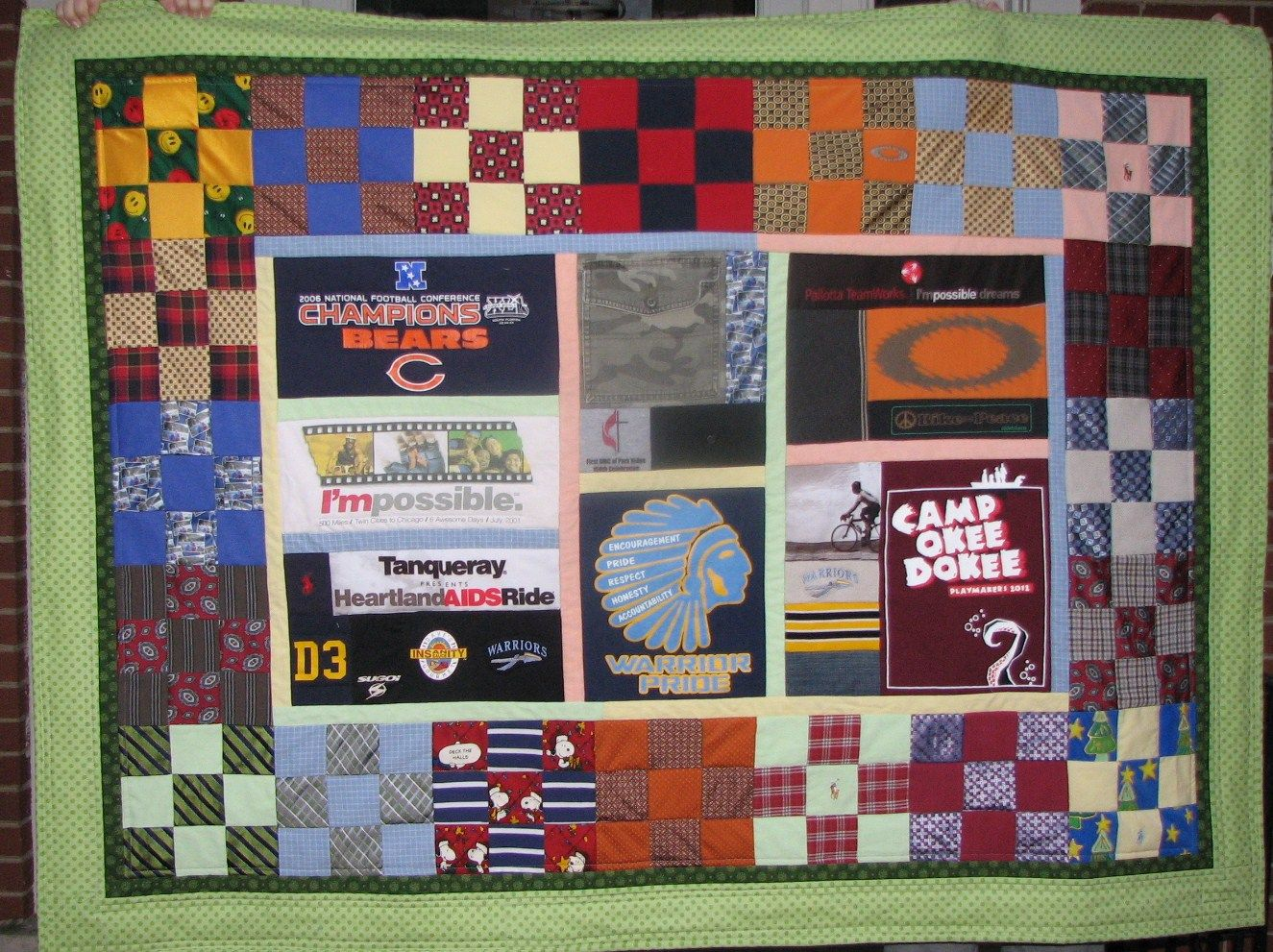 Memorial quilt made from men's clothing, including t shirts ... : memorial quilt - Adamdwight.com
