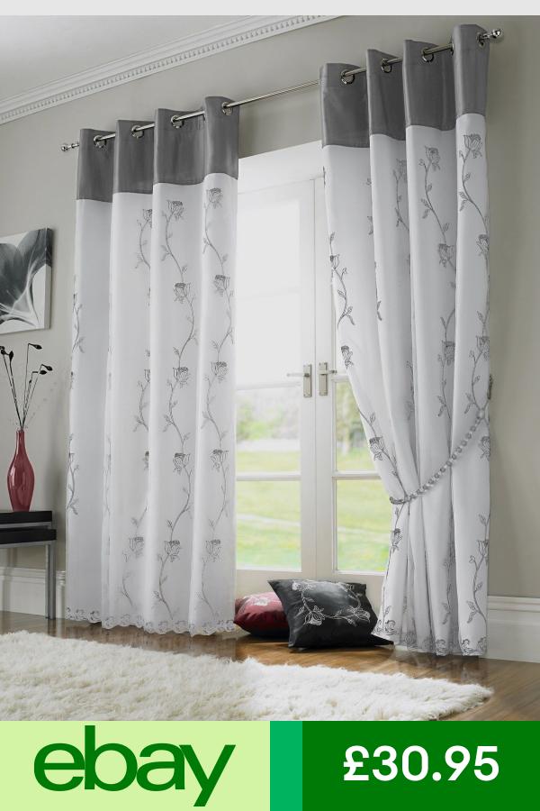 Curtains Pelmets Home Furniture Diy Ebay Black White Curtains Curtain Styles White Curtains