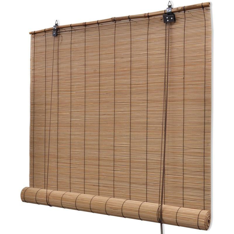 Brown Bamboo Roller Blinds 100 X 160 Cm Hardware Pergola Ideas