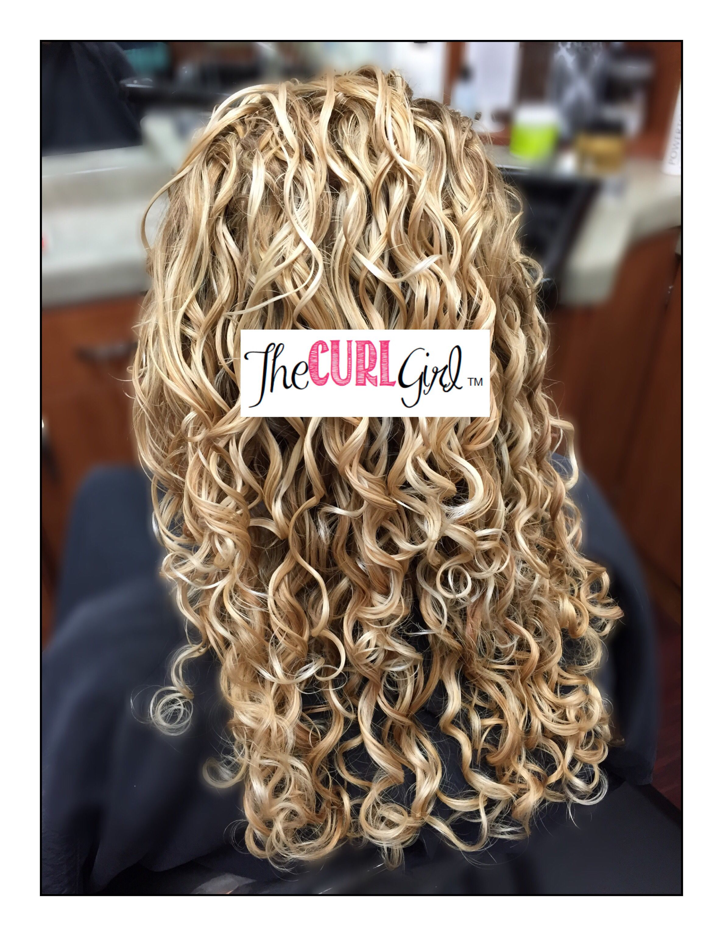 Naturally Curly Hair With Blonde Highlights Curly Blonde