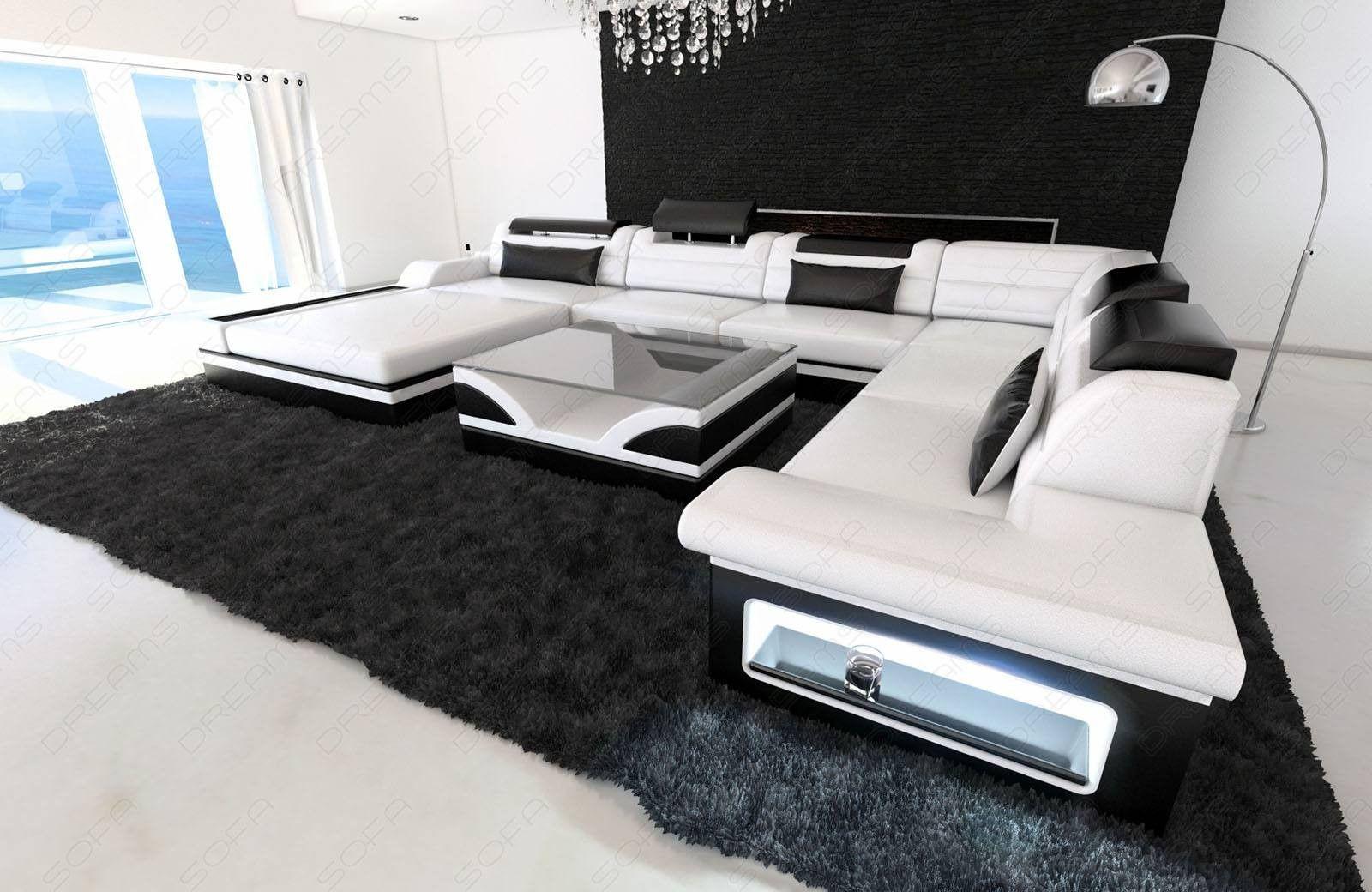 Design Sectional Sofa Orlando XL with LED Lights   Modern sofa ...