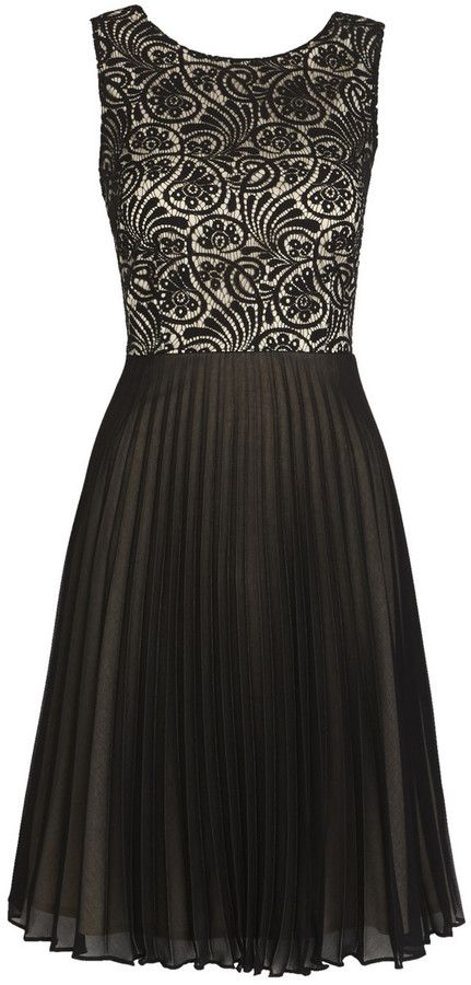 f20e53c361b4d F F Lace Top Pleated Dress on shopstyle.co.uk