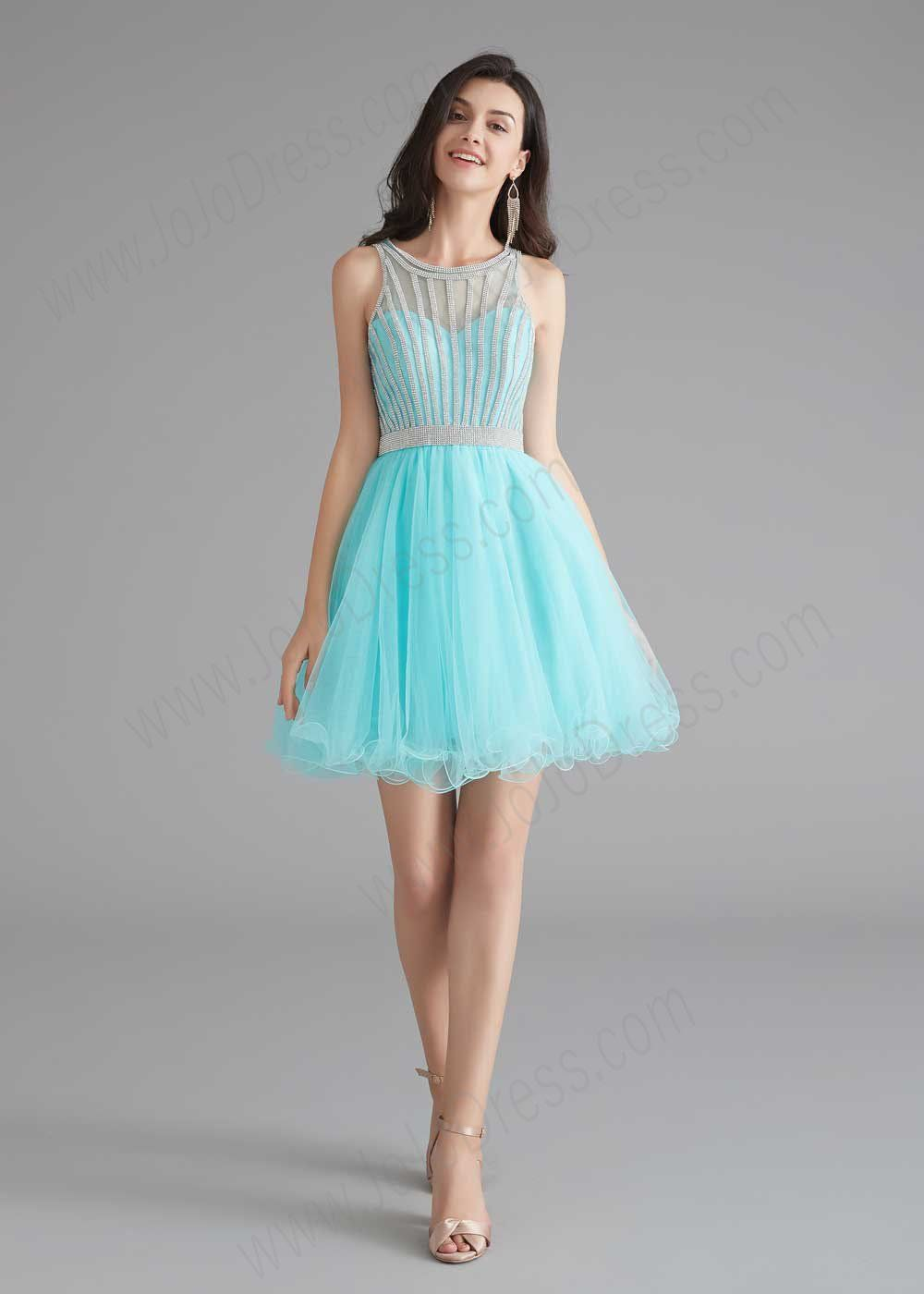Chic Short Turquoise Tulle Evening Dress Short Cocktail Dress Tulle Evening Dress Cocktail Dress Prom [ 1400 x 1000 Pixel ]