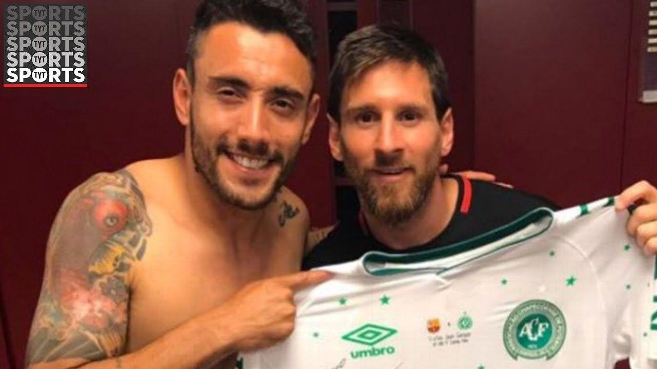 Lionel Messi Swaps Shirts With Chapecoense Survivor Alan Ruschel