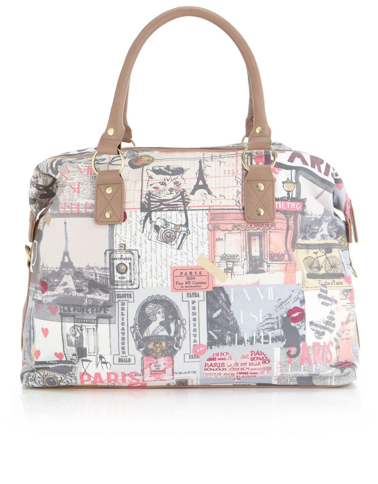 Je T Aime Paris Weekender Bag Multi Accessorize