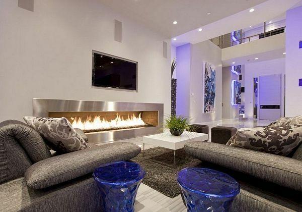 Salon moderne et cheminée design : un mariage parfait | Salons ...