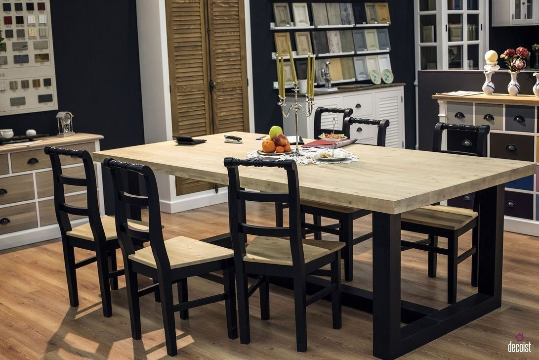 40 Creative Wooden Dining Tables Design Ideas images