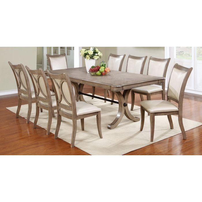 Rosalind Wheeler Regina 9 Piece Dining Set & Reviews  Wayfair Simple 9 Piece Dining Room Decorating Design