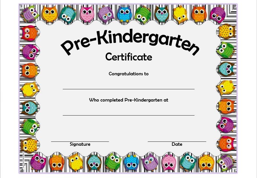 Printable Pre K Graduation Certificates - Guve.securid.co with ...