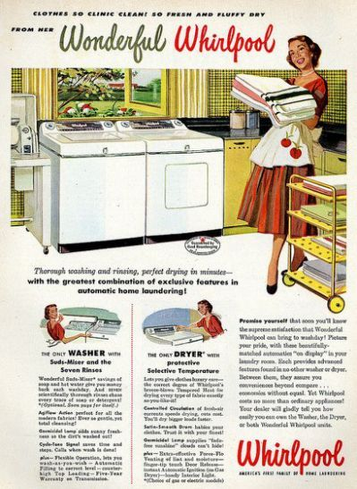 1959 RCA Whirlpool Washer Anybody Can Wash Anything Vintage Print Ad
