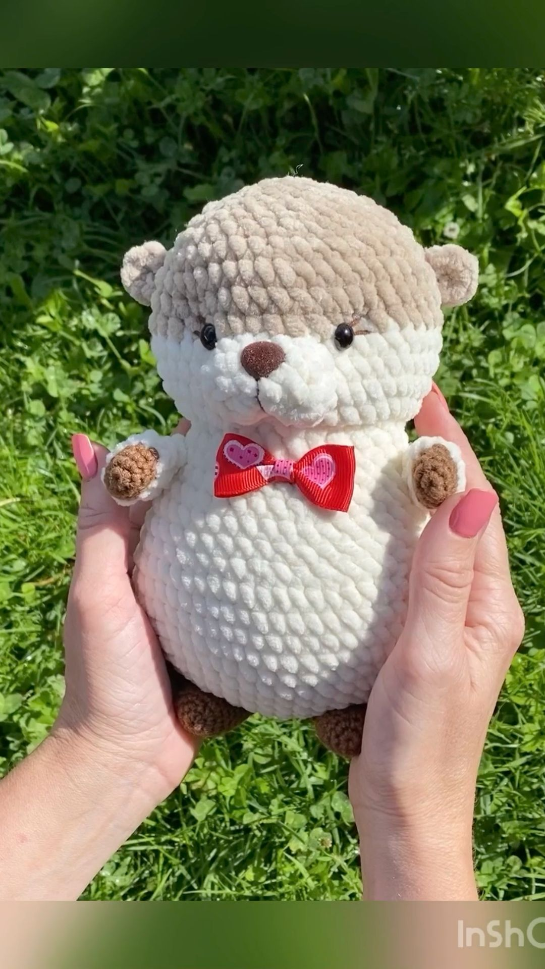Crochet pattern otter toy.