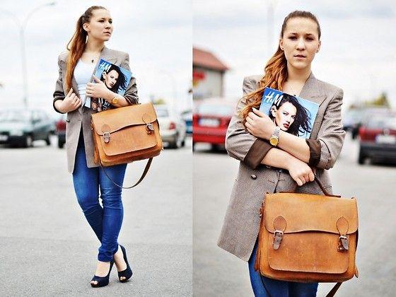Old Jacket, New Look Jeans, Internationale Heels, Sh Bag - Since I Saw You Last - Dagna Zabek
