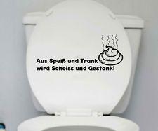 Wc Deckel Aufkleber Trank Toilette Spruch Badezimmer Klo Bad Spruche