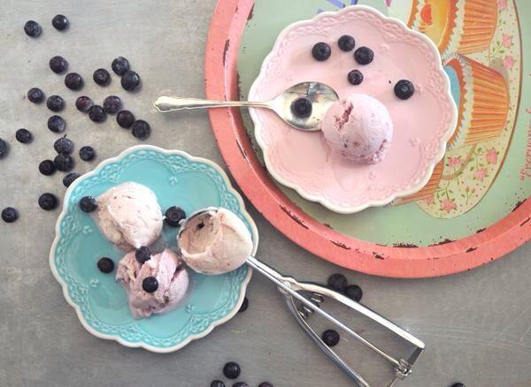 גלידת יוגורט וחלב מרוכז