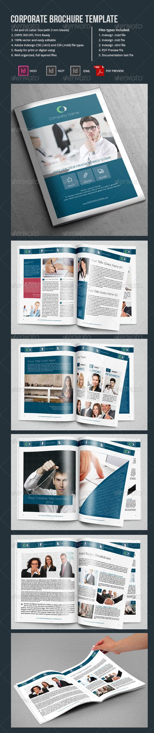 Corporate Brochure Template Pages   Advertisements Airline