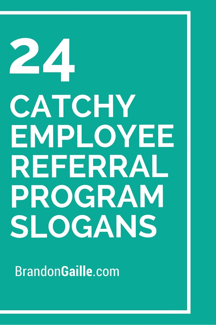 Catchy Employee Referral Program Slogans Pinterest - Awesome employee referral program template concept