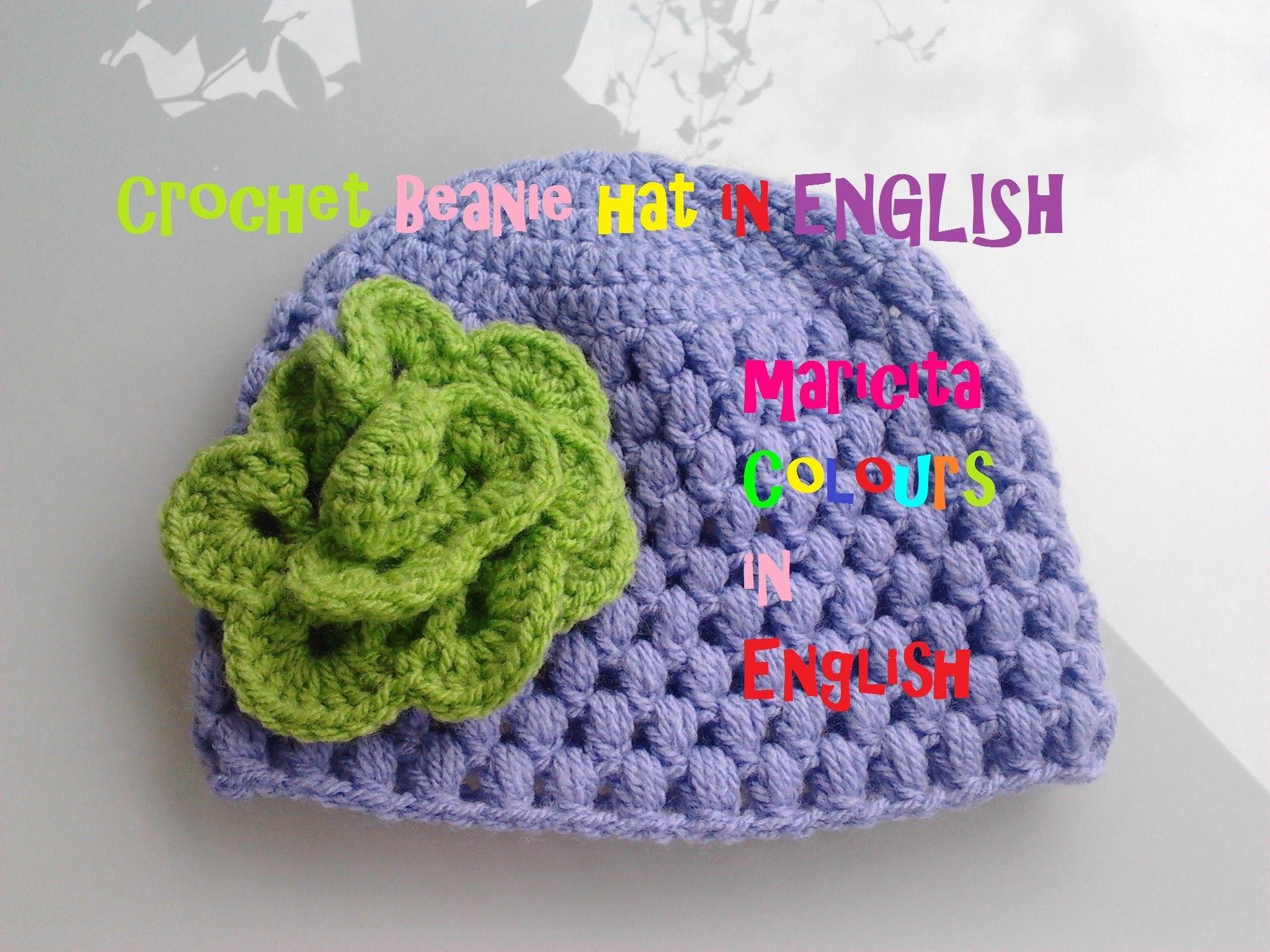Crochet in ENGLISH Baby Beanie Hat