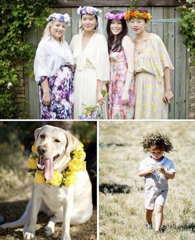 30 Beautiful Boho Flower Crowns   #DIY Tutorials love the doggie one!