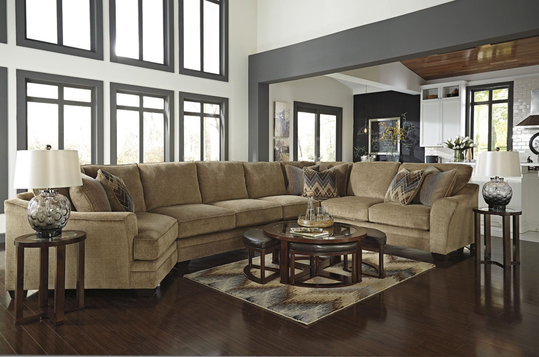 Lonsdale Laf Large Cuddler Sectional Large Sectional