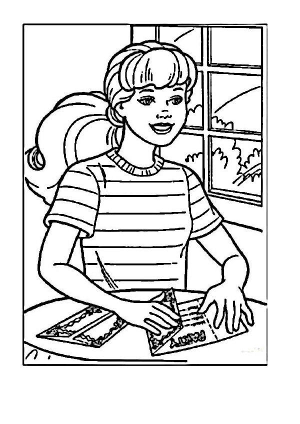 Dibujos para Colorear Barbie 11 | Dibujos para colorear para niños ...