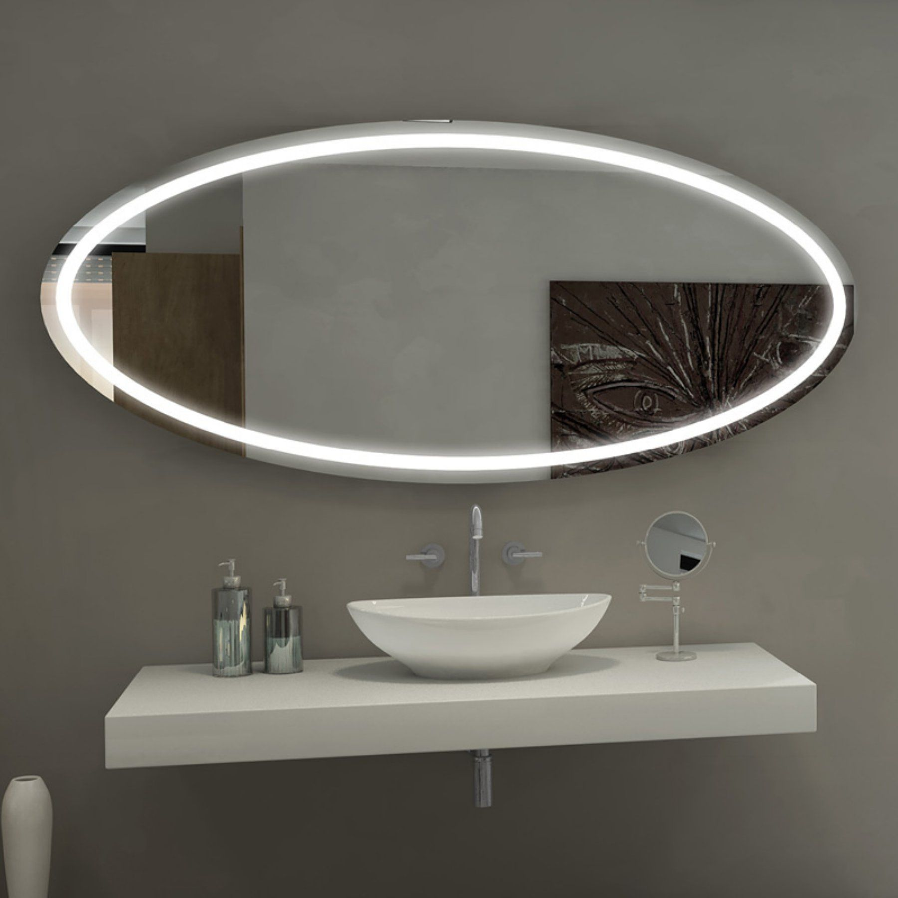 Paris Mirror Oval Tokyo Illuminated Bathroom Mirror Toky70326000 Illuminated Mirrors Bathroom Mirror Led Mirror Bathroom