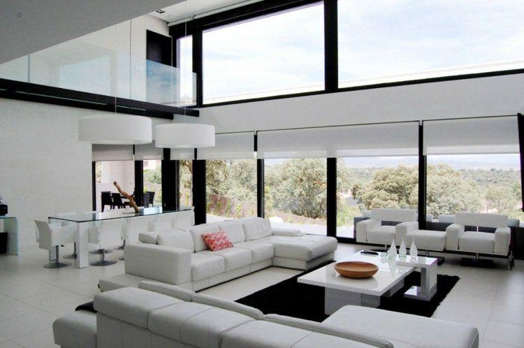 Décoration intérieur salon blanc: 48 idées de déco moderne ...