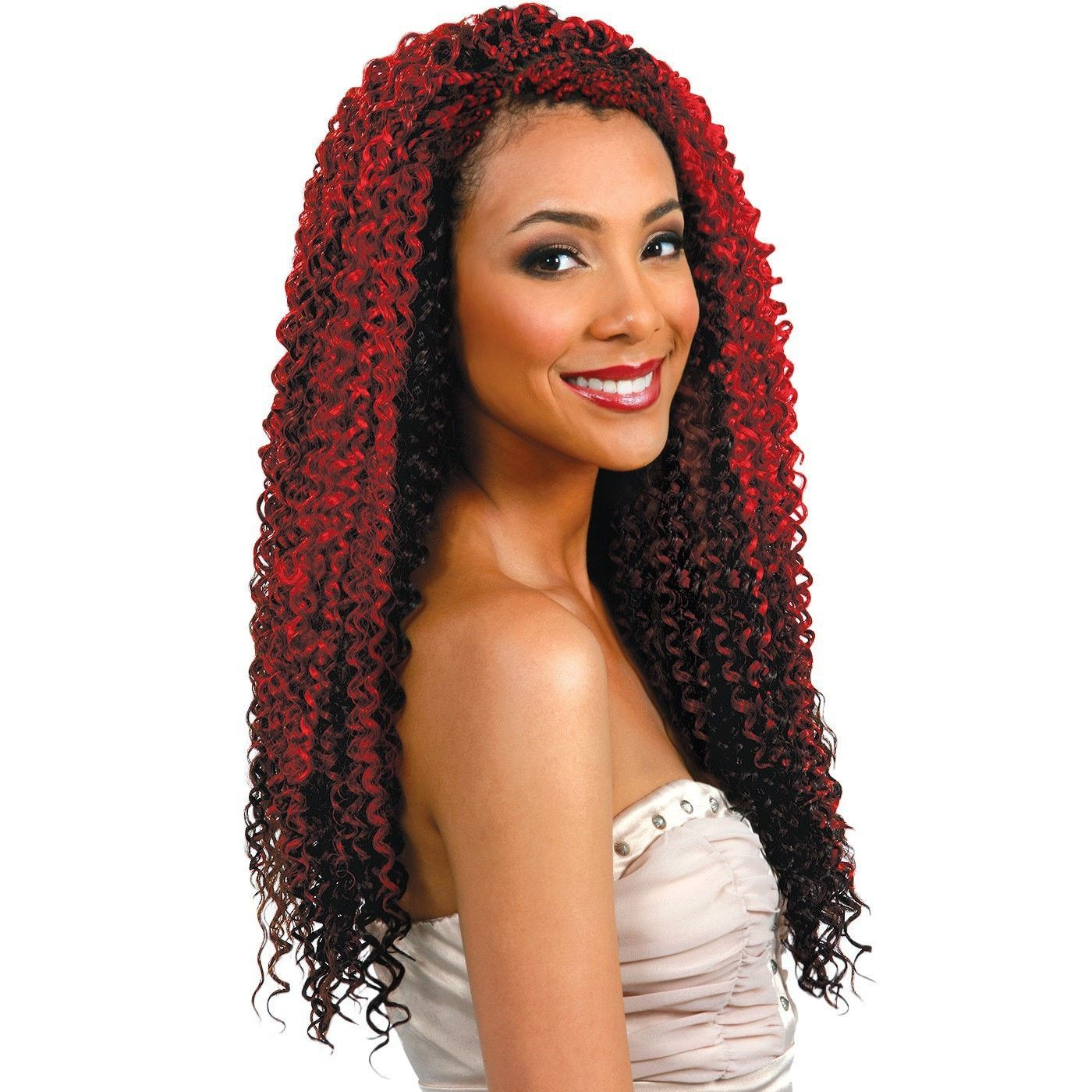 Bobbi boss kanekalon crochet braid dual braid water wave