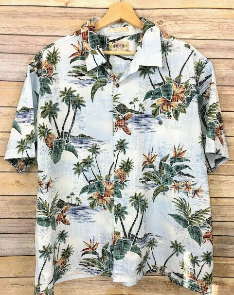 001bb1005d7b Campia Moda Mens Hawaiian Shirt Size 2XL Button Down Aloha 100% Cotton  Hibiscus  CampiaModa  ButtonFront