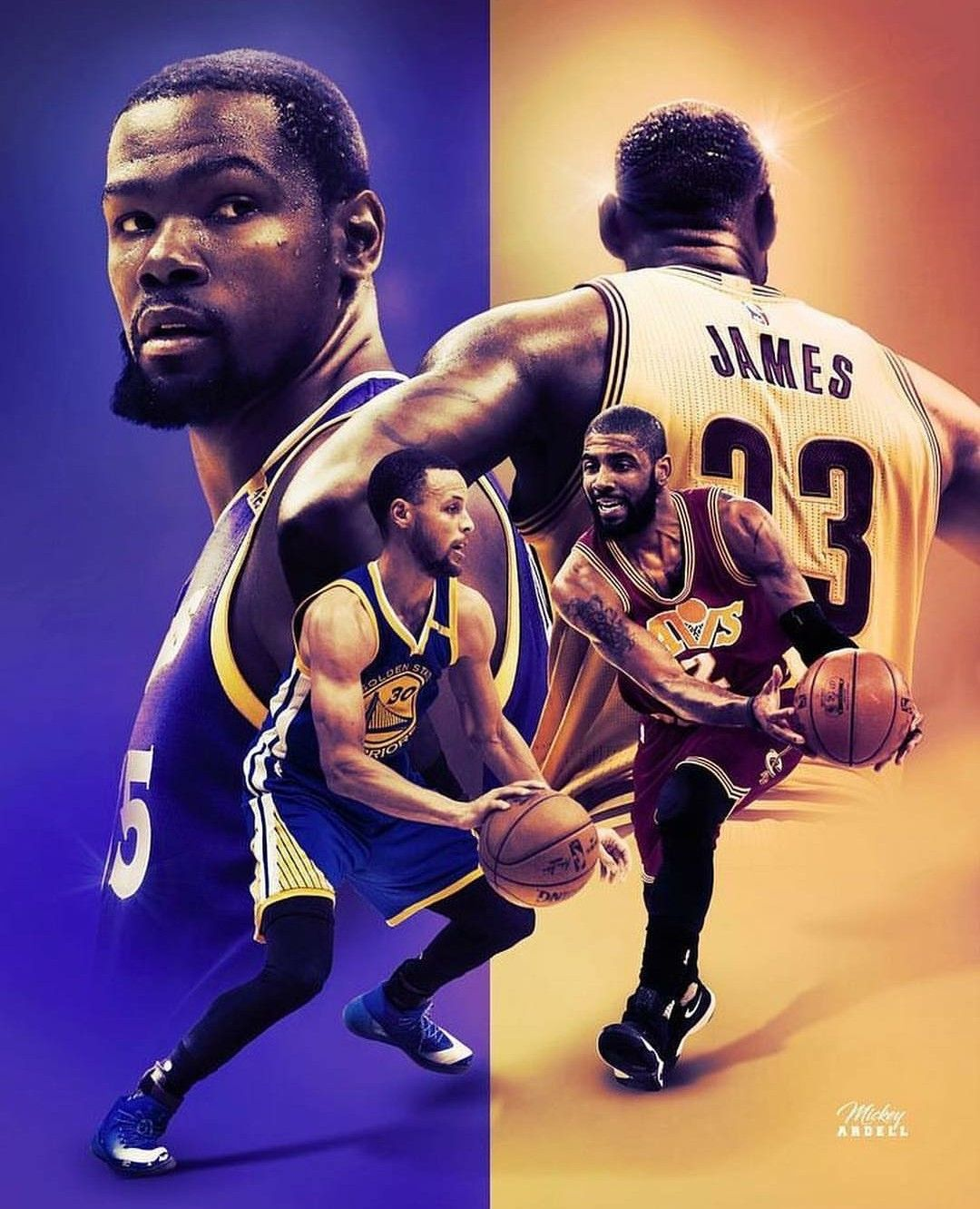 Kd And Kyrie Wallpaper : kyrie, wallpaper, Stephen, Curry, Kevin, Durant, Kyrie, Irving, Lebron, James, ❤️, Durant,, Basketball,