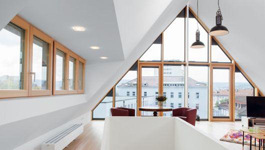 sattedach mit giebelverglasung bungalow ideas pinterest gaube satteldach und dachgeschosse. Black Bedroom Furniture Sets. Home Design Ideas