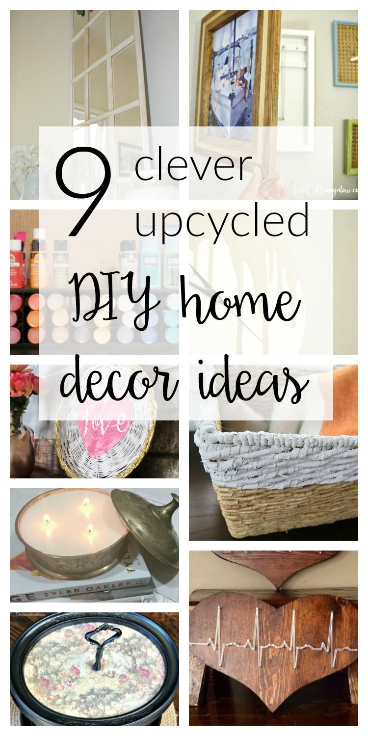 9 Upcycled DIY Home Decor Ideas - Merry Monday #140 | All Things DIY ...