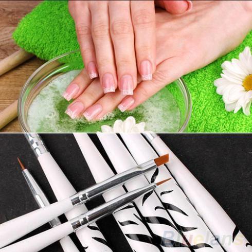 8 PCS de Nail Art Dotting Manicure pintura ferramentas de desenho polonês escova Pen 2MIO alishoppbrasil