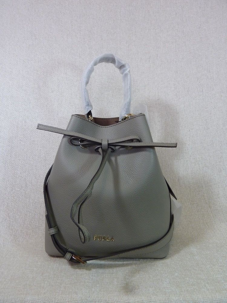 NWT FURLA Sabbia Pebbled Leather Small Costanza Bucket Tote Bag  388  Furla   TotesShoppers 8051dacf60b26