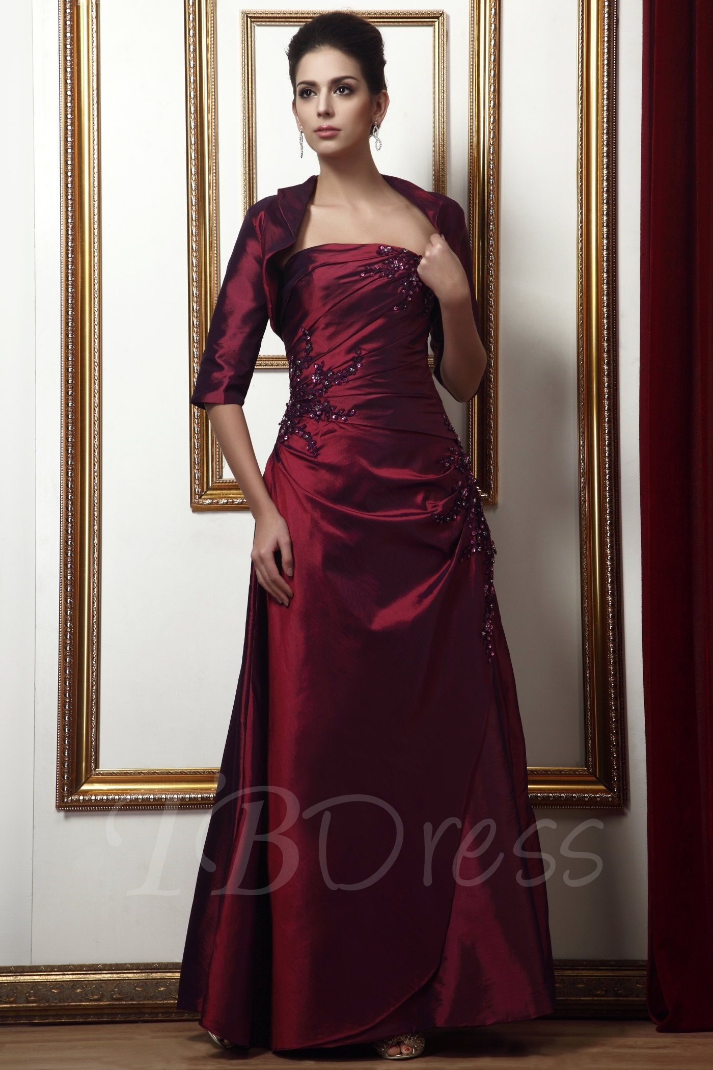 Mother dresses for fall wedding  Beading Appliques ALine Strapless Mother of the Bride Dress  Bride