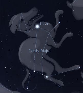 Resultado de imagem para dog constellation sirius