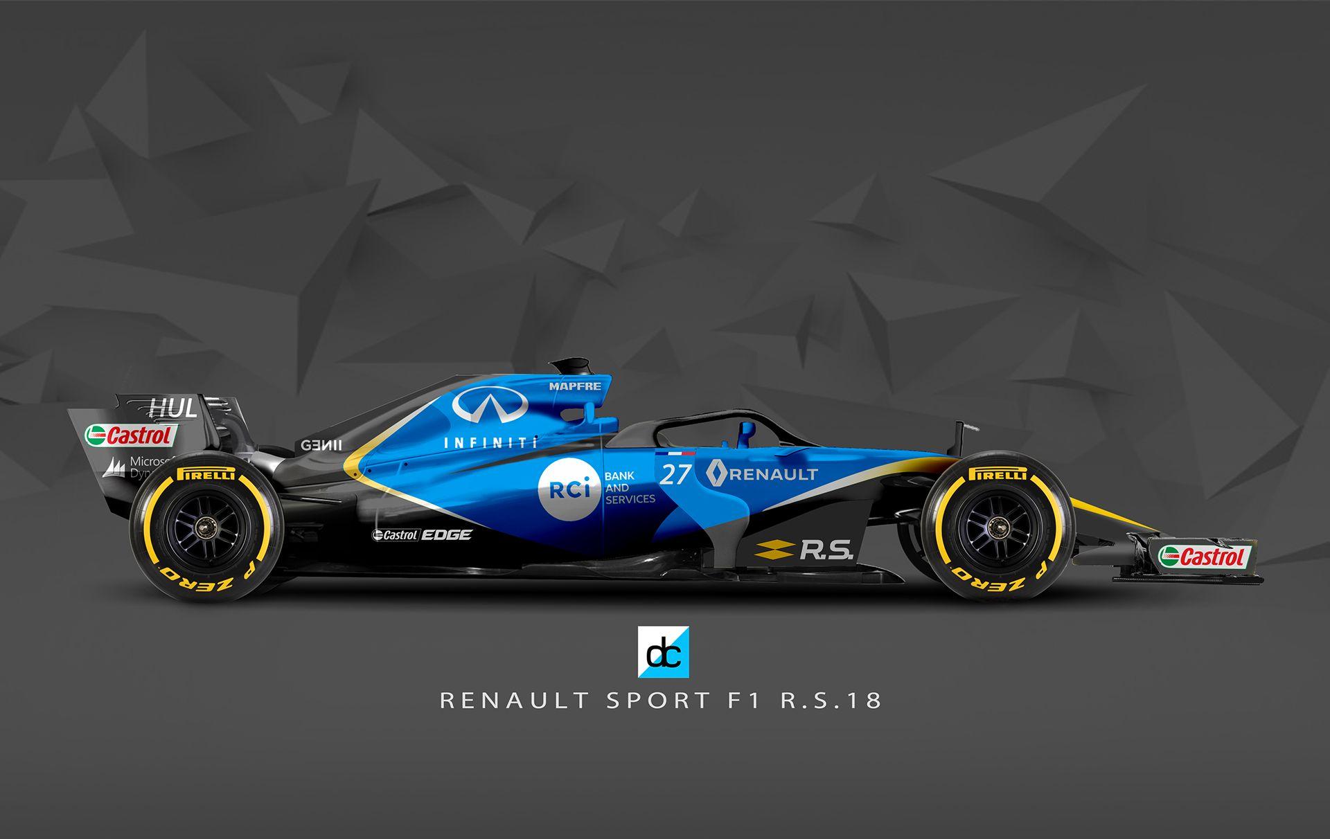 2019 Renault F1 Concept Liveries On Behance Formula 1 Formula