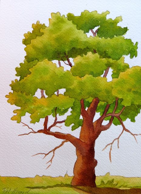 5 Watercolor Techniques For Trees Tree Watercolor Painting