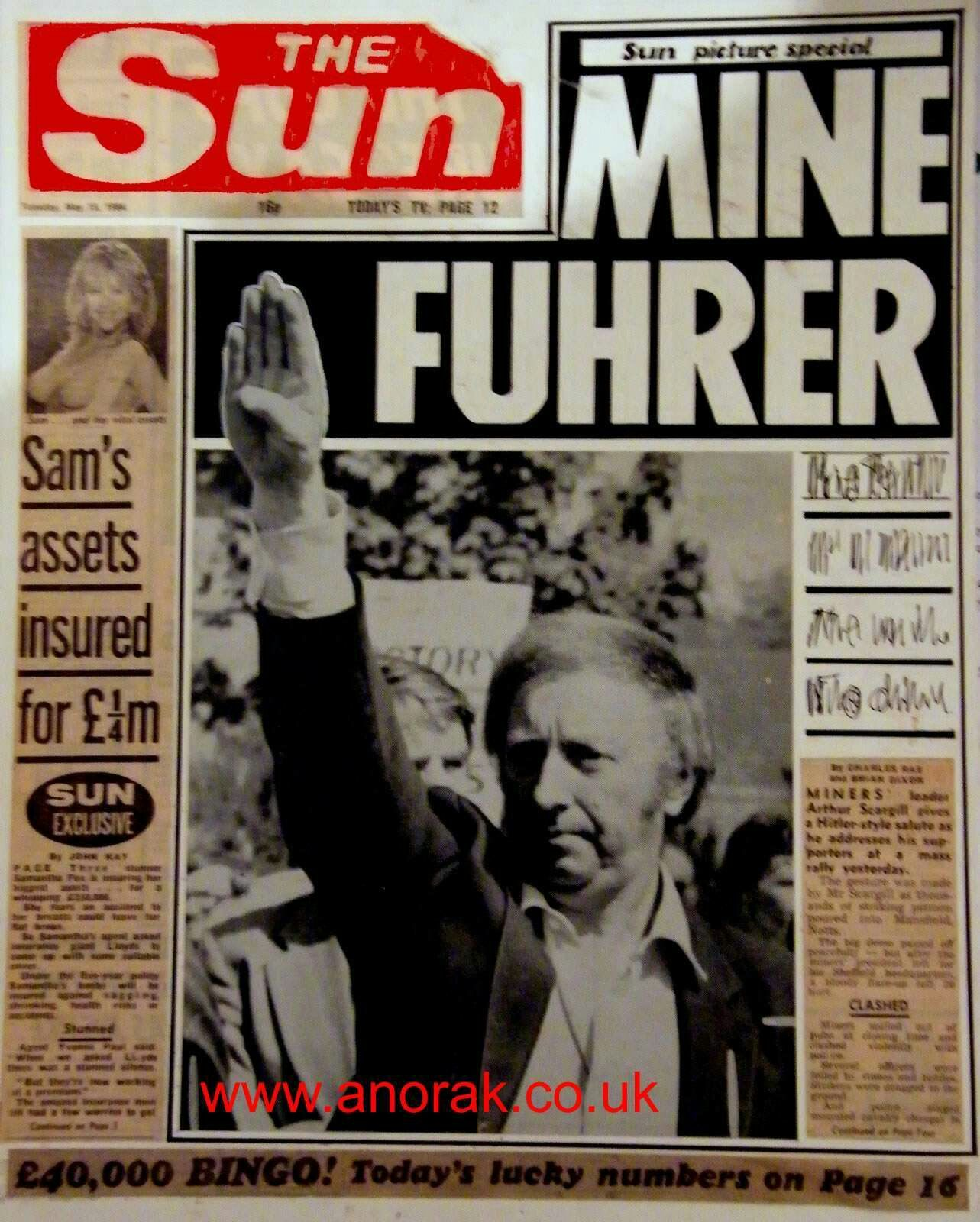 Pin by Paul Anderson on 1980s Sun newspaper, Historical