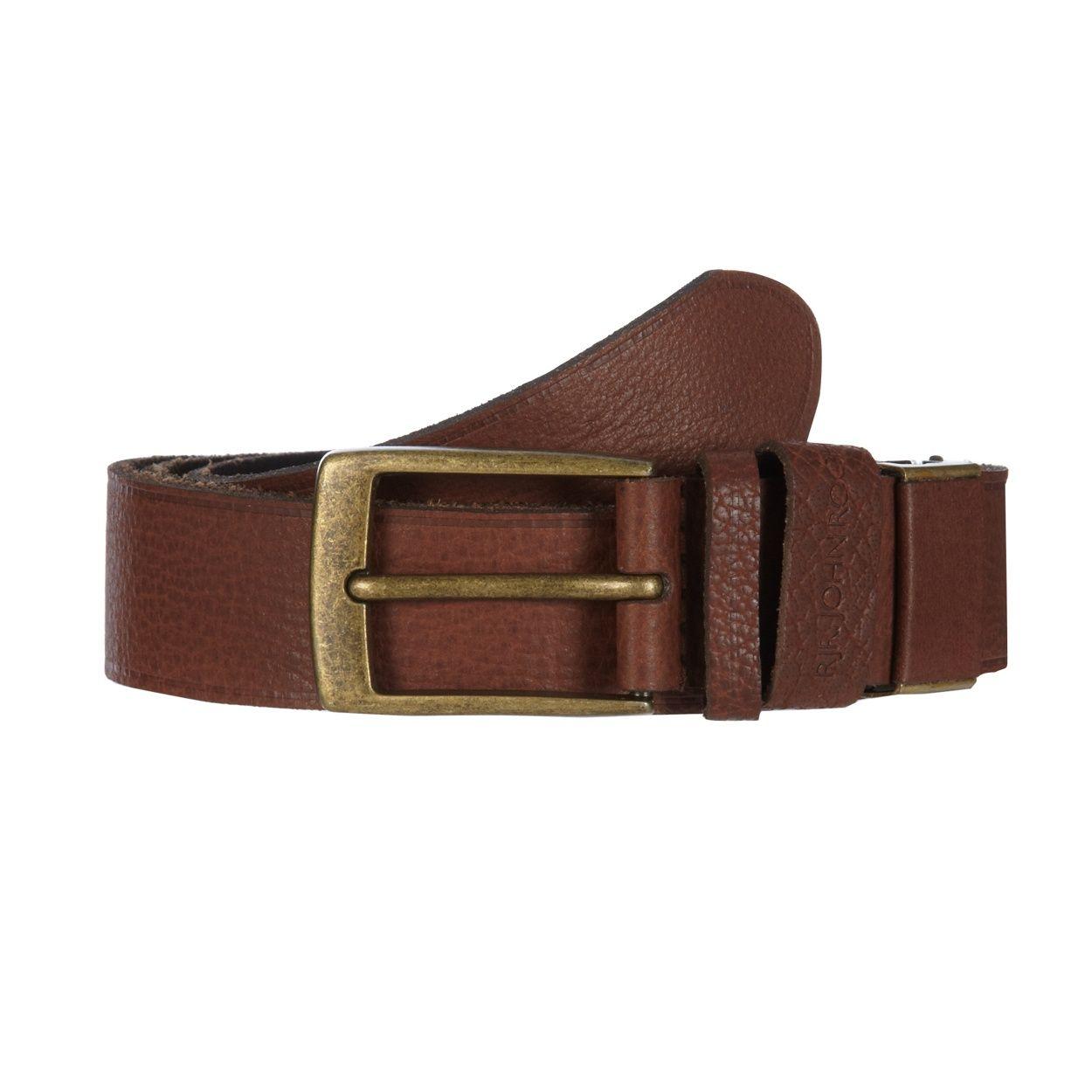 RJR.John Rocha Designer brown grained leather belt in box