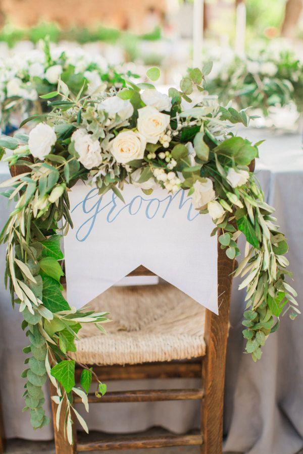 Groom's sweetheart chair: http://www.stylemepretty.com/little-black-book-blog/2016/02/01/rustic-elegant-crete-destination-wedding-2/ | Photography: Anna Roussos - http://www.annaroussos.com/