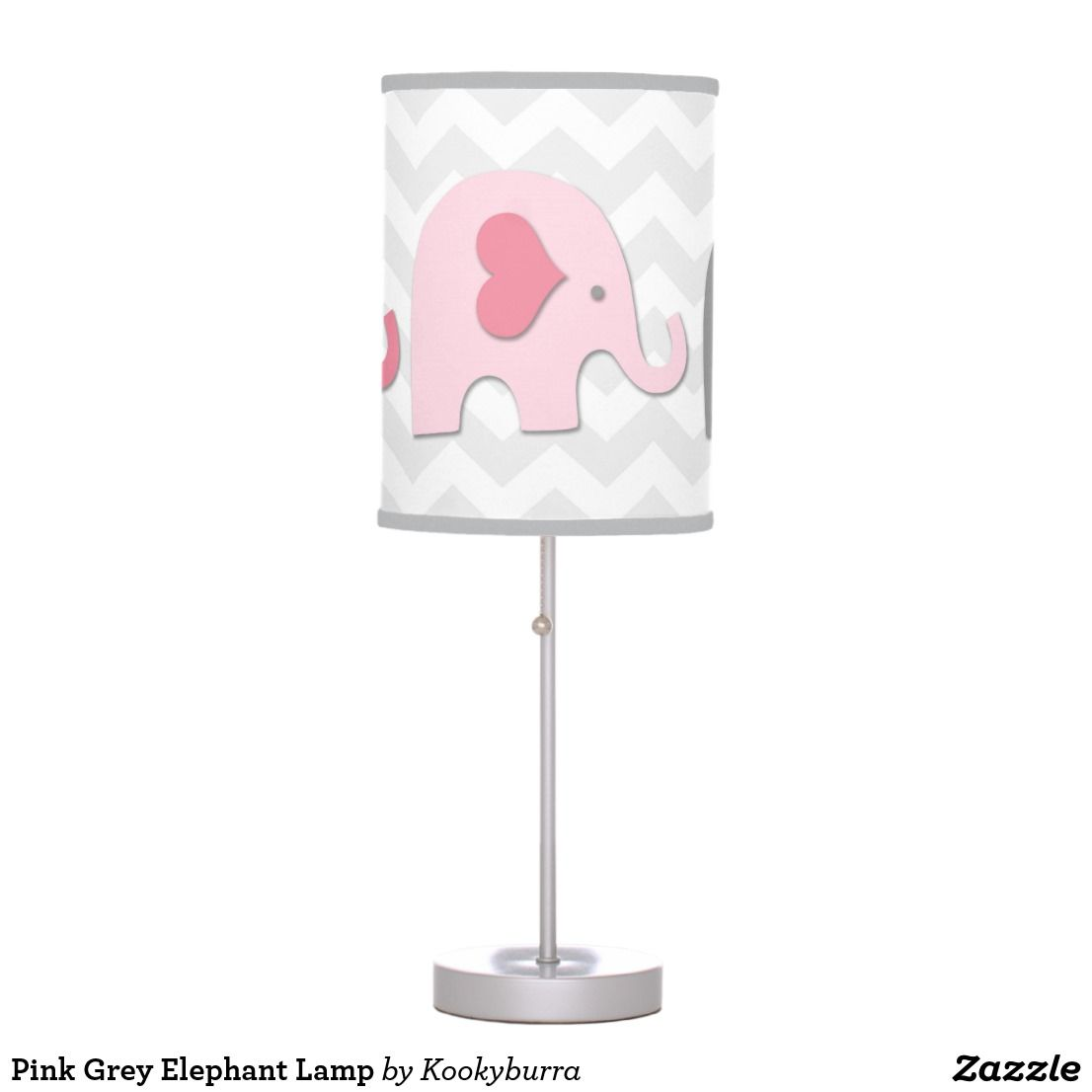 light led elephant nursery pink lamp night