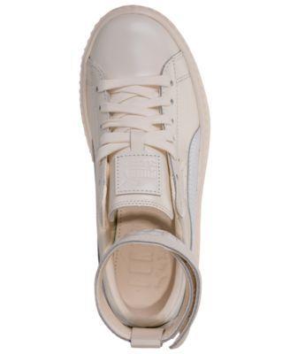 a99d08e702893e Puma Women s Fenty x Rihanna Ankle Strap Creeper Casual Sneakers from Finish  Line - White 7.5