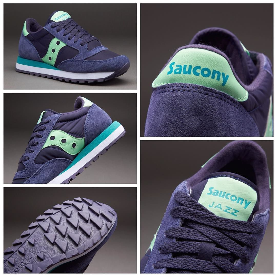 competitive price 96f02 14f58 Saucony Originals Womens Jazz Original - Navy   Mint قیمت بعد از حراج  تومان  کد