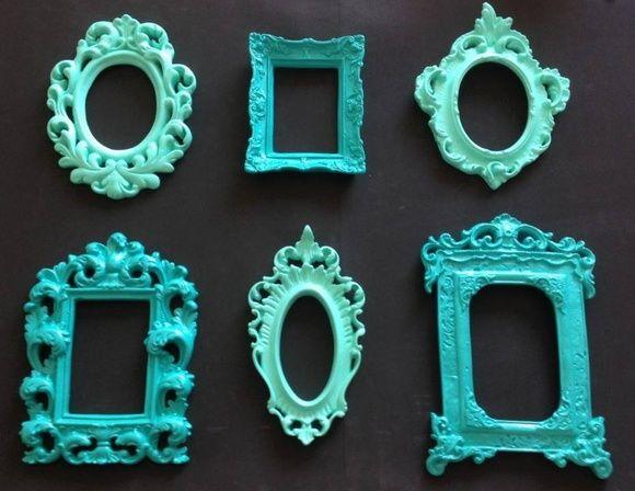 kit Espelho Provençal Molduras 6 peças - www.elo7.com.br/decorachados