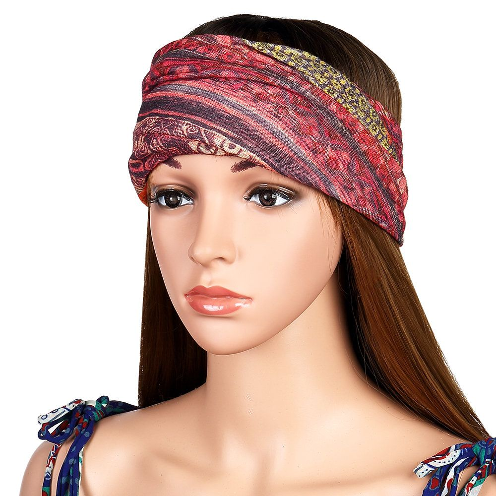 3fc7375e Womens Cotton Ponytail Beanie Hat Vintage Print Beanie Hats Outdoor For  Both Hats And Scarf Use