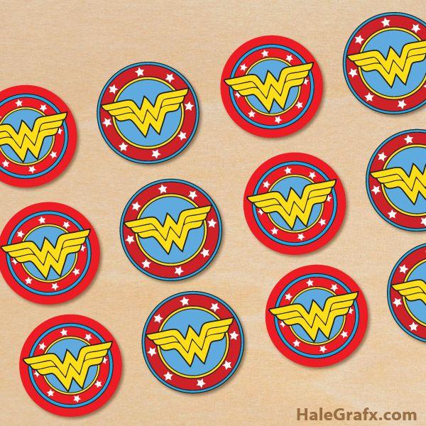 FREE Printable Wonder Woman Cupcake Toppers Wonder Woman