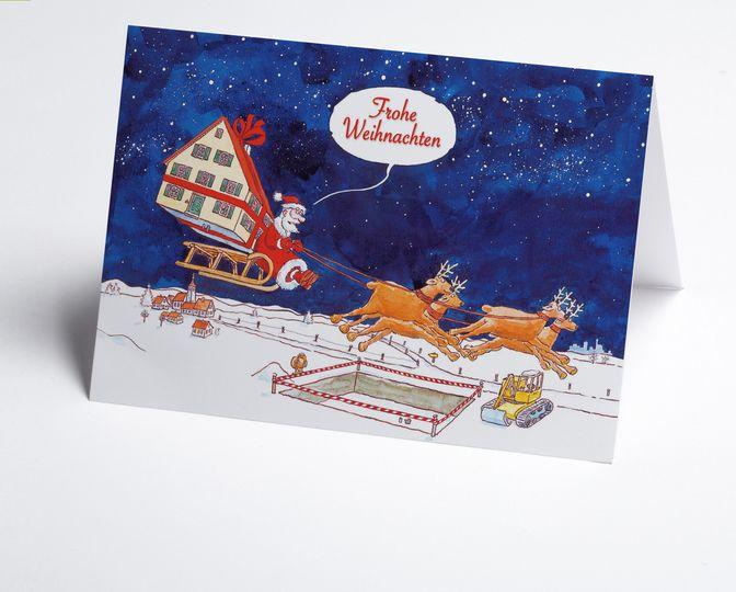 lustige gezeichnete branchen weihnachtskarte mit. Black Bedroom Furniture Sets. Home Design Ideas