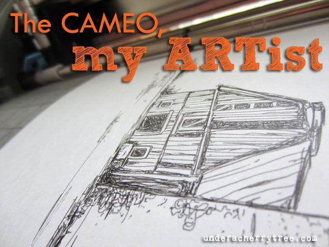 Bajo Un Cerezo: El Cameo, mi artista: Como Dibujar bocetos Con La silueta del camafeo