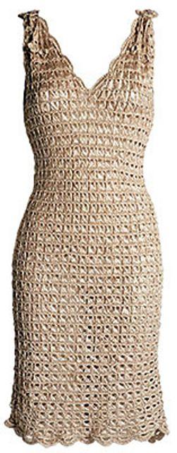 e0b0c1e68 Vestido de crochê para o verão pattern by Manequim Online