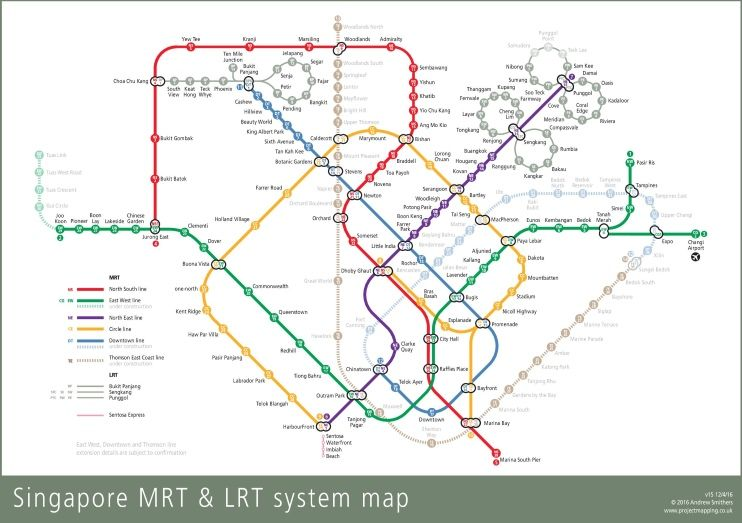 Singapore Mrt Map Posters In 2019 Singapore Map Map Bus Map